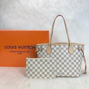 %100 AUTH LEATH Louis Vuitton Neverfull Pm 29x22x1